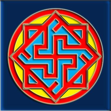 Валькирия - Древний оберег, охраняющий Мудрость, Справедливость, Благородство и Честь. Этот знак особо почитаем у воинов, защищающих Родную землю, свой Древний Род и Старую Веру. Как охранный символ использовался жрецами для сохранности Священных Вед.